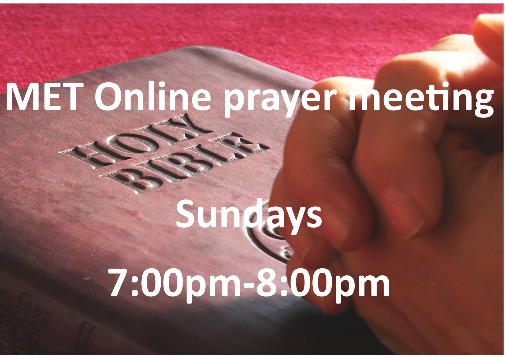 MET onlin prayer meeting small